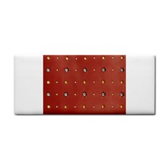 Studded Faux Leather Red Hand Towel by artattack4all