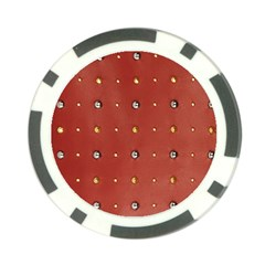 Studded Faux Leather Red 10 Pack Poker Chip by artattack4all