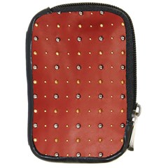 Studded Faux Leather Red Digital Camera Case by artattack4all