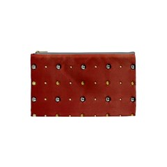 Studded Faux Leather Red Small Makeup Purse by artattack4all