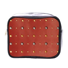 Studded Faux Leather Red Single Sided Cosmetic Case by artattack4all
