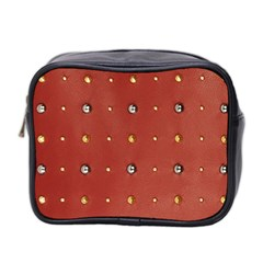 Studded Faux Leather Red Twin Sided Cosmetic Case by artattack4all