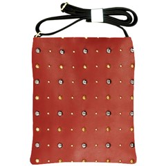 Studded Faux Leather Red Cross Shoulder Sling Bag