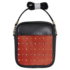Studded Faux Leather Red Kids  Sling Bag by artattack4all