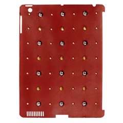 Studded Faux Leather Red Apple Ipad 3/4 Hardshell Case (compatible With Smart Cover) by artattack4all