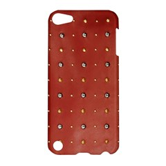 Studded Faux Leather Red Apple Ipod Touch 5 Hardshell Case by artattack4all