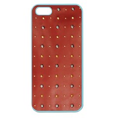 Studded Faux Leather Red Apple Seamless Iphone 5 Case (color) by artattack4all