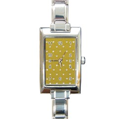 Gold Diamond Bling  Classic Elegant Ladies Watch (rectangle) by artattack4all