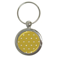 Gold Diamond Bling  Key Chain (round) by artattack4all