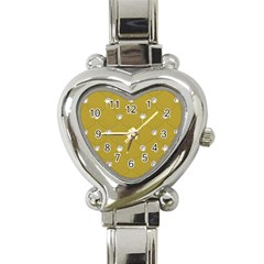 Gold Diamond Bling  Classic Elegant Ladies Watch (heart) by artattack4all