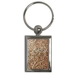 Light And Dark Sequin Design Key Chain (rectangle) by artattack4all