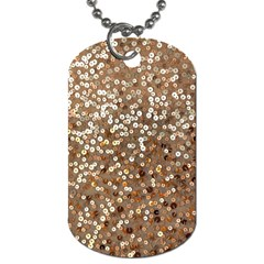 Light And Dark Sequin Design Single Sided Dog Tag