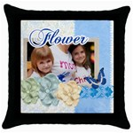 motgers love - Throw Pillow Case (Black)