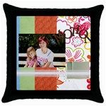 motion - Throw Pillow Case (Black)