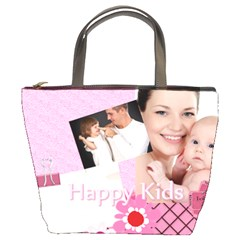 Happy Family By Jo Jo   Bucket Bag   Bvr9rdglr717   Www Artscow Com Front