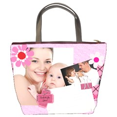 Happy Family By Jo Jo   Bucket Bag   Bvr9rdglr717   Www Artscow Com Back