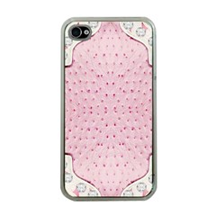 Hot Pink Western Tooled Leather Look Apple Iphone 4 Case (clear) by artattack4all