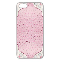 Hot Pink Western Tooled Leather Look Apple Seamless Iphone 5 Case (clear)