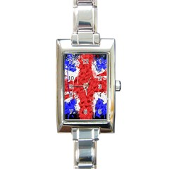 Distressed British Flag Bling Classic Elegant Ladies Watch (rectangle) by artattack4all