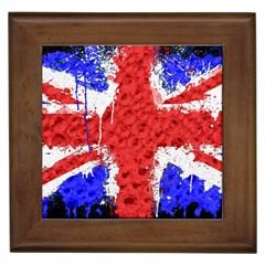 Distressed British Flag Bling Framed Ceramic Tile by artattack4all