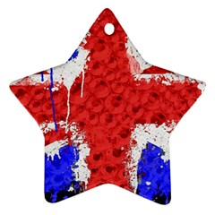 Distressed British Flag Bling Ceramic Ornament (star) by artattack4all