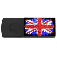 Distressed British Flag Bling 4gb Usb Flash Drive (rectangle) by artattack4all