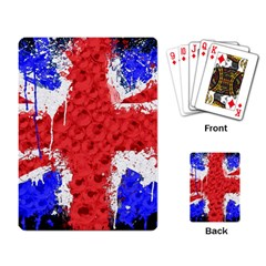 Distressed British Flag Bling Standard Playing Cards by artattack4all