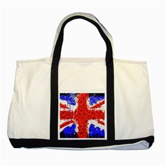 Distressed British Flag Bling Two Toned Tote Bag by artattack4all