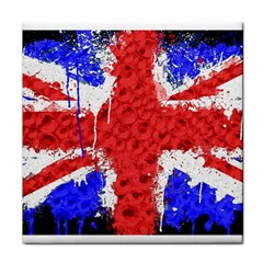 Distressed British Flag Bling Face Towel by artattack4all