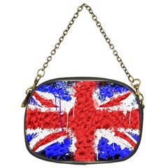 Distressed British Flag Bling Single Sided Evening Purse