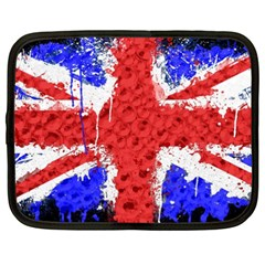Distressed British Flag Bling 15  Netbook Case by artattack4all