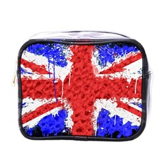 Distressed British Flag Bling Single Sided Cosmetic Case by artattack4all