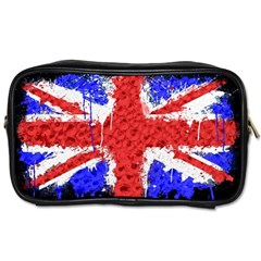 Distressed British Flag Bling Twin Sided Personal Care Bag by artattack4all