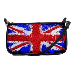 Distressed British Flag Bling Evening Bag by artattack4all