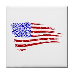 Sparkling American Flag Ceramic Tile by artattack4all