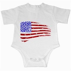 Sparkling American Flag Baby Creeper by artattack4all