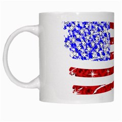 Sparkling American Flag White Coffee Mug