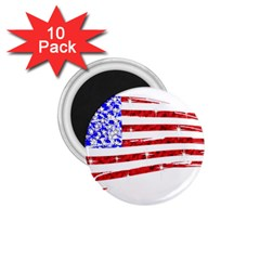 Sparkling American Flag 10 Pack Small Magnet (round) by artattack4all
