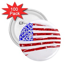 Sparkling American Flag 100 Pack Regular Button (round) by artattack4all