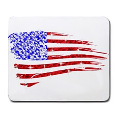 Sparkling American Flag Large Mouse Pad (rectangle) by artattack4all