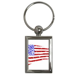 Sparkling American Flag Key Chain (rectangle) by artattack4all