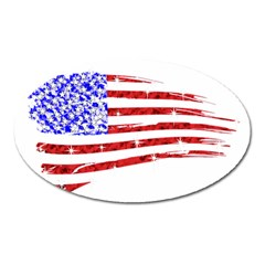 Sparkling American Flag Large Sticker Magnet (oval) by artattack4all