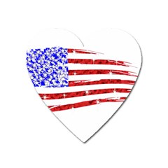 Sparkling American Flag Large Sticker Magnet (heart) by artattack4all