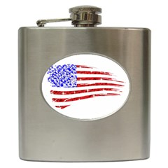 Sparkling American Flag Hip Flask by artattack4all
