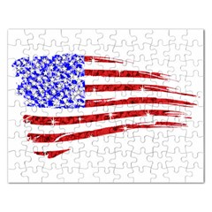 Sparkling American Flag Jigsaw Puzzle (rectangle) by artattack4all