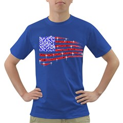 Sparkling American Flag Colored Mens'' T Shirt by artattack4all