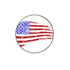 Sparkling American Flag 10 Pack Golf Ball Marker (for Hat Clip)