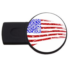 Sparkling American Flag 4gb Usb Flash Drive (round) by artattack4all
