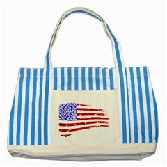 Sparkling American Flag Blue Striped Tote Bag by artattack4all