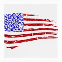 Sparkling American Flag Single Sided Large Glasses Cleaning Cloth by artattack4all